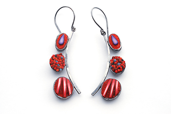 Red Pebble Dangles