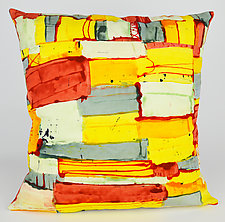 Color Weave 3 Pillow by Ayn Hanna (Cotton & Linen Pillow)