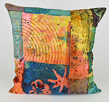 Radar Love 4 Pillow by Ayn Hanna (Cotton & Linen Pillow)