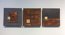 Rust and Black by Lori Katz (Ceramic Wall Sculpture)