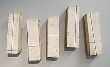 White Bars by Lori Katz (Ceramic Wall Sculpture)