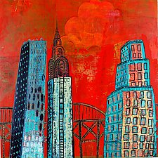 City Gossip by Barbara Gilhooly (Acrylic Painting)