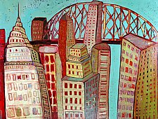 Optimistic City by Barbara Gilhooly (Acrylic Painting)