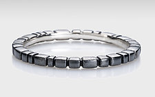 Squares and Bars Stacking Ring in Silver by Conni Mainne (Platinum, Gold, & Silver Rings)