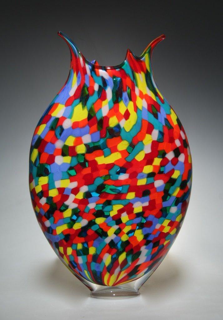 Mosaic Foglio Ii By David Patchen Art Glass Vessel