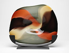 Autumn Cradle by Janet Nicholson and Rick Nicholson (Art Glass Sculpture)