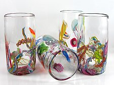Cane-Fetti Tumblers by Michael Richardson, Justin Tarducci and Tim Underwood (Art Glass Tumbler)