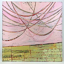 String Theory in Pink by Barbara Gilhooly (Acrylic Painting)