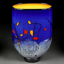 Luminous Lapis by Eric Bladholm (Art Glass Vase)