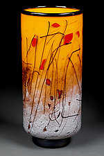 Soaring Saffron by Eric Bladholm (Art Glass Vase)