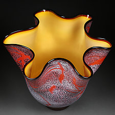 Sizzling Summer by Eric Bladholm (Art Glass Bowl)