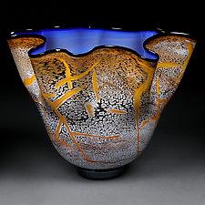 Indigo Impact by Eric Bladholm (Art Glass Bowl)