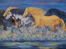 The Spirit Runners by Ritch Gaiti (Oil Painting)