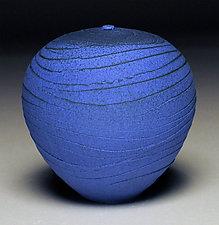 Vivid Blue Spiral by Nicholas Bernard (Ceramic Vessel)