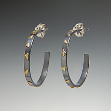 Large Confetti Hoops by Dean Turner (Gold & Silver Earrings)