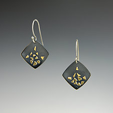 Soft Square Confetti Earrings by Dean Turner (Gold & Silver Earrings)