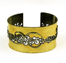 Inlay Bimetal Cuff by Natasha Wozniak (Gold & Silver Bracelet)