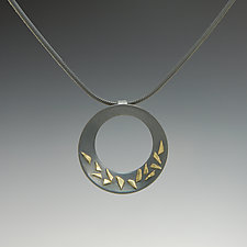Confetti Circle Pendant by Dean Turner (Gold & Silver Necklace)