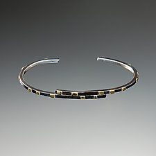 City Lights Overlapping Cuff Bracelet by Dean Turner (Gold & Silver Bracelet)