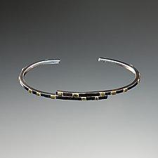 City Lights Overlapping Cuff Bracelet by Dean Turner (Gold & Silver Bracelet)
