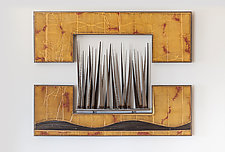 Landscape in Amber and Red by Carlos Page (Metal Wall Sculpture)