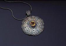 Maine Flat Bail by Hratch Babikian (Silver & Stone Pendant)