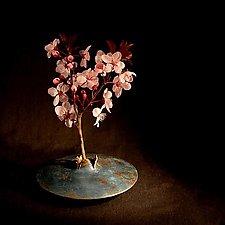 Lens Vase - Antique Blue by David M Bowman and Reed C Bowman (Metal Vase)