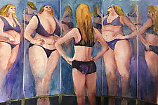 Funhouse Mirror by Terrece Beesley (Watercolor Painting)