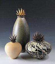 Warm Tone Vessels by Natalie Blake (Ceramic Vessel)