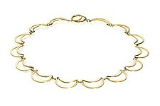 Gold Lace Necklace by Karen and James Moustafellos (Gold Necklace)