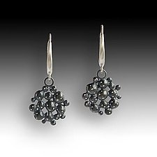 Night Pebble Earrings by Susan Mahlstedt (Silver Earrings)