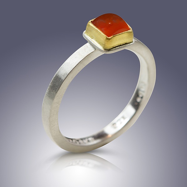 Carnelian Square Cut Ring