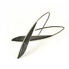 Blade Hoops by Vickie  Hallmark (Silver Earrings)