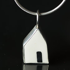 Open Door Pendant II by Diana Eldreth (Ceramic Necklace)