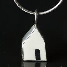 Open Door Pendant II by Diana Eldreth (Ceramic Necklace)