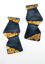 Tumble Earrings by Marcia Meyers (Gold & Silver Earrings)