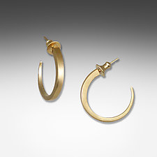 Simple Gold Tapered Hoops by Suzanne Q Evon (Gold Earrings)