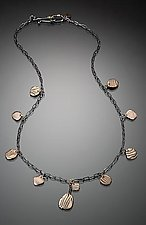 Kancamagus Necklace 10-Pebble by Lisa Jane Grant (Gold & Silver Necklace)
