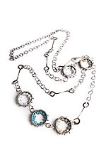 5 Geode Necklace by Erica Stankwytch Bailey (Silver & Stone Necklace)