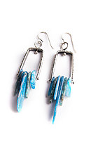 Long Climb Earrings by Erica Stankwytch Bailey (Silver & Stone Earrings)