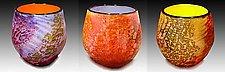 Riverbed Bowls by Thomas Philabaum (Art Glass Bowl)
