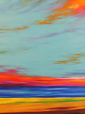 Fire in the Sky by Mary Johnston (Oil Painting)