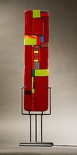 Windows Red II by Vicky Kokolski and Meg Branzetti (Art Glass Sculpture)