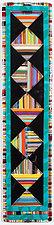 Striped Diamonds- Deep Purple by Mary Johannessen (Art Glass Wall Sculpture)