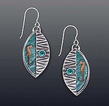 Seahorse Earrings by Dawn Estrin (Silver & Stone Earrings)