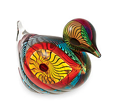 Bird Series - Duck by Mike Wallace (Art Glass Sculpture)