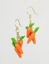 14k Carrots by Carolyn Tillie (Gold & Polymer Earrings)