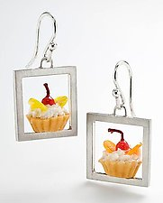 Tartlet Earrings by Carolyn Tillie (Silver & Polymer Earrings)