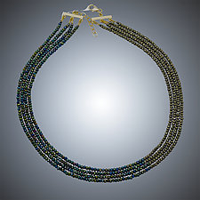Pyrite Necklace by Judy Bliss (Silver & Stone Necklace)