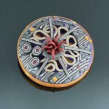 Tendrils Prototype Brooch by Arden Bardol (Polymer Clay Brooch)
